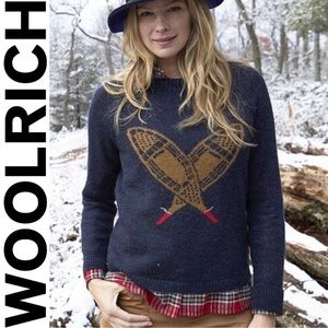 Woolrich deep blue sea snowshoe mohair sweater S